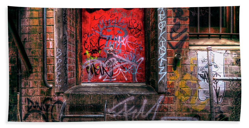 Grunge Beach Towel featuring the photograph Grunge Junkies Unite by Wayne Sherriff