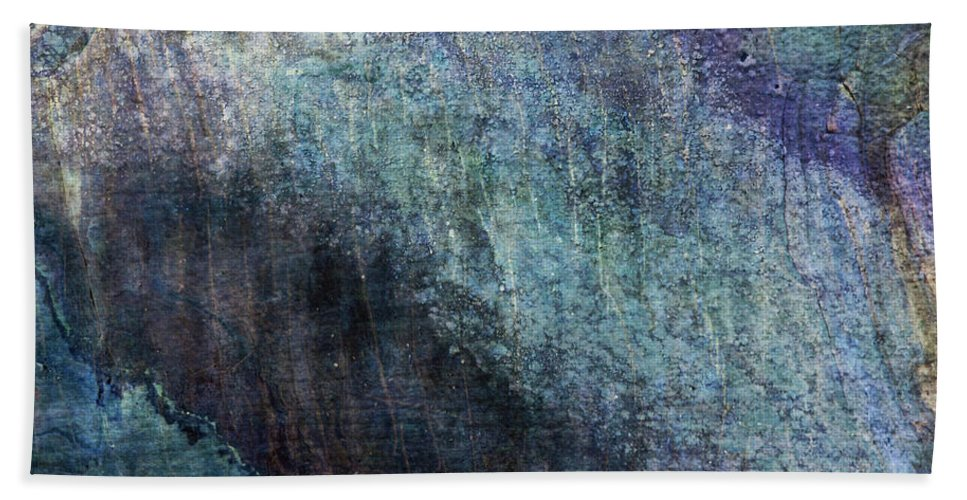 Grunge Beach Towel featuring the photograph Grunge Texture Blue Ugly Rough Abstract Surface Wallpaper Stock Fused by TextureX