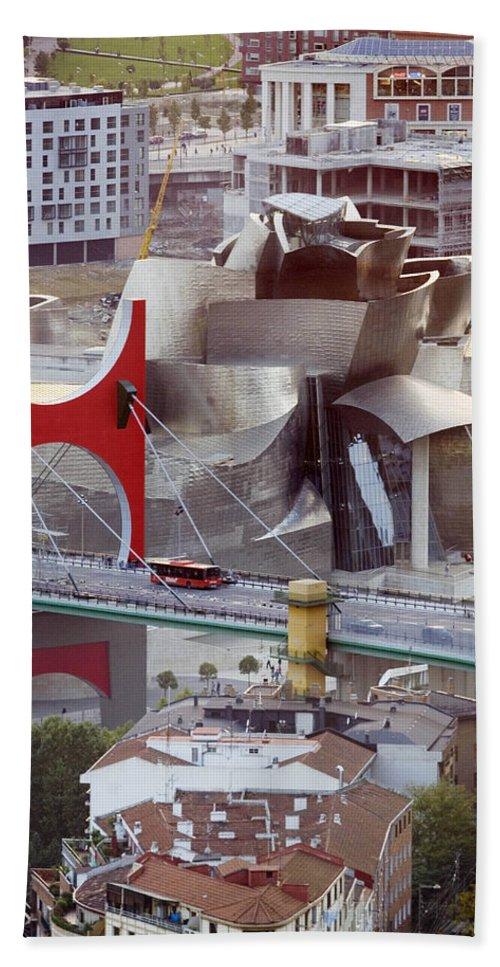 Spain Beach Towel featuring the photograph Guggenheim Bilbao Museum II by Rafa Rivas