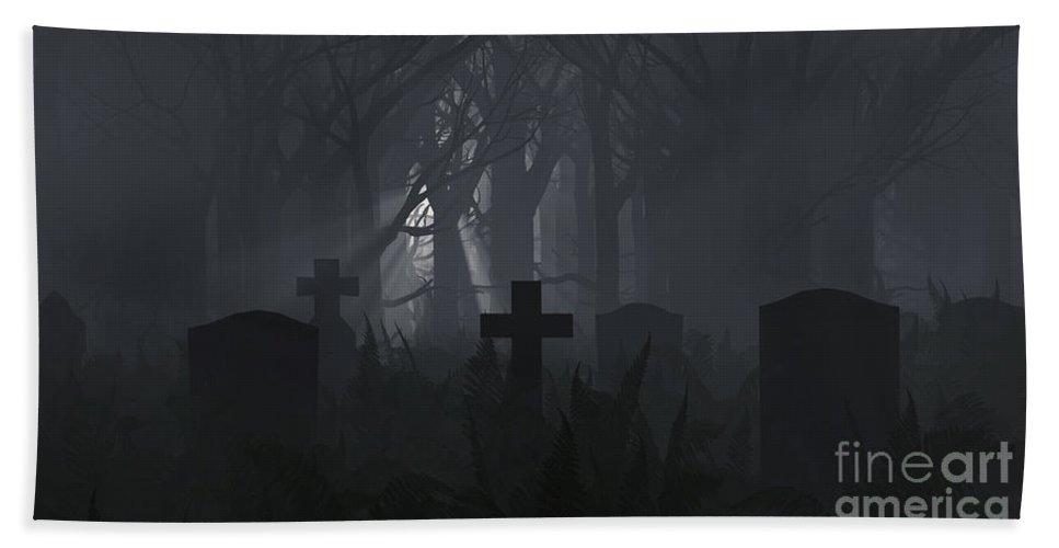 Death Beach Towel featuring the digital art Guiding Light by Richard Rizzo