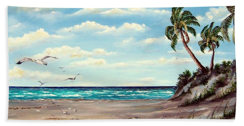 Art Beach Towel featuring the painting Gulf Dunes by Riley Geddings