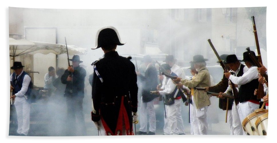 Traditional Beach Towel featuring the photograph Gun Smoke by Lainie Wrightson