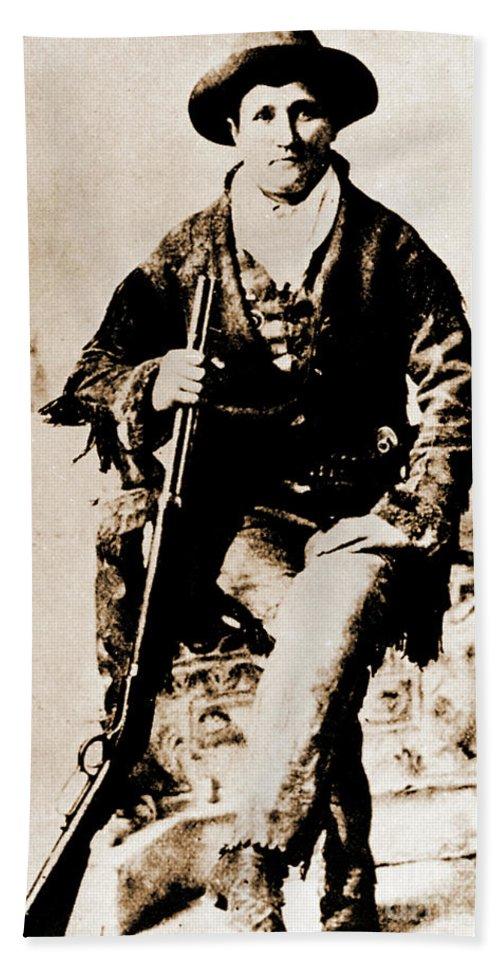 Gun Beach Towel featuring the photograph Gunfighter by Gary Wonning