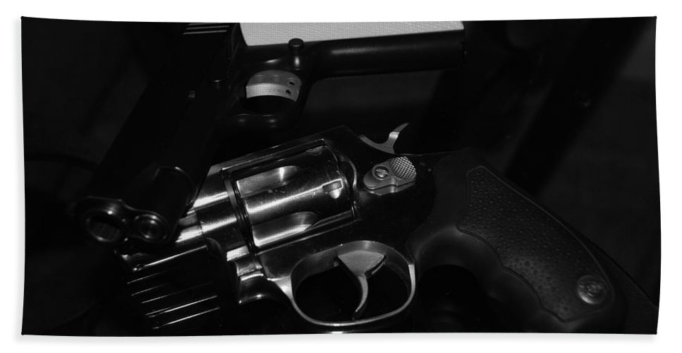 Guns Beach Towel featuring the photograph Guns And More Guns by Rob Hans