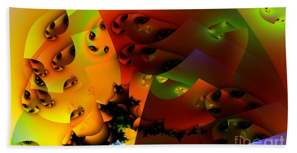 Guppy Beach Towel featuring the digital art Guppies by Ron Bissett