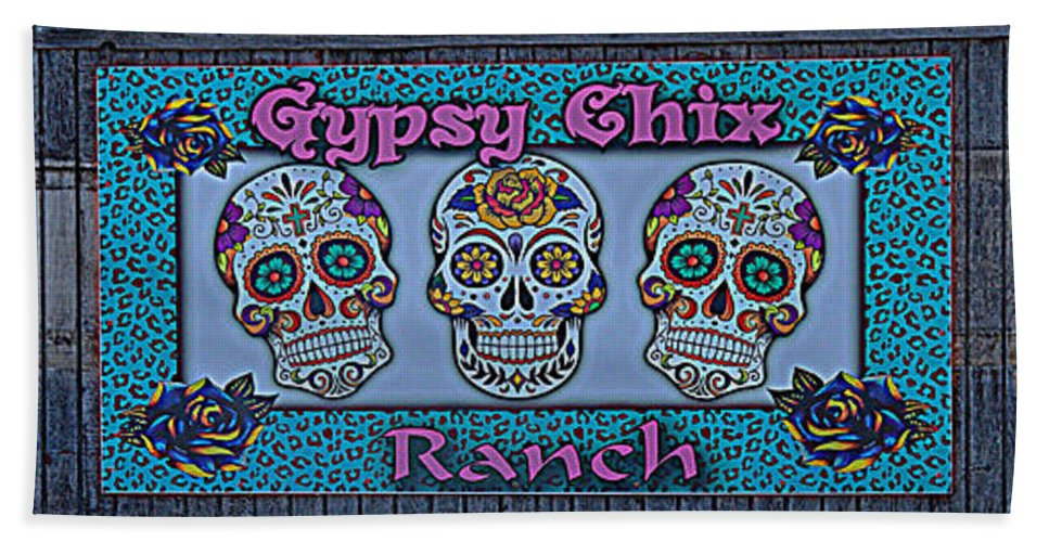 Gypsy Chix Ranch Beach Towel featuring the photograph Gypsy Chix Ranch by Debra Martz