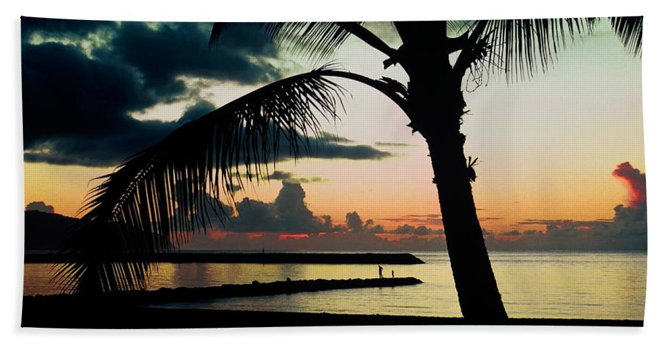 Haleiwa Beach Towel featuring the photograph Haleiwa by Steven Sparks