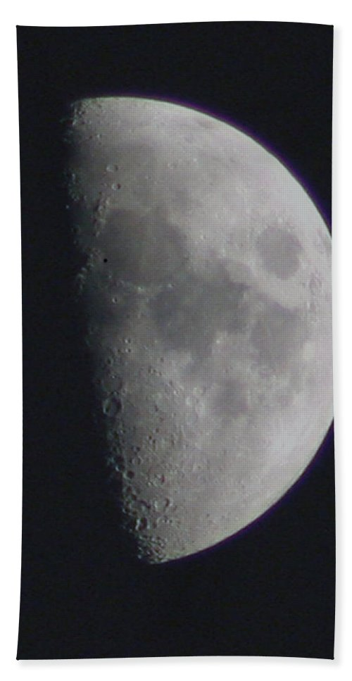 Moon Beach Towel featuring the photograph Half Moon by David Campbell