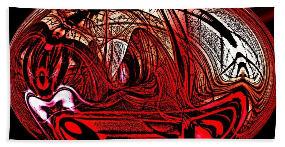 Abstract Digital Painting Beach Towel featuring the digital art Halloween Fun by David Lane