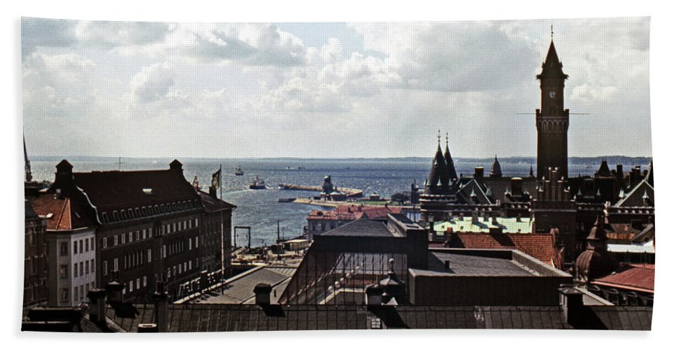 Europe Beach Towel featuring the photograph Halsingborg Sweden 2 by Lee Santa
