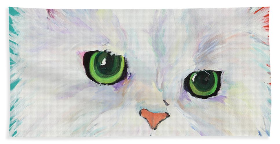 Acrylic Beach Towel featuring the painting Hannah by Pat Saunders-White