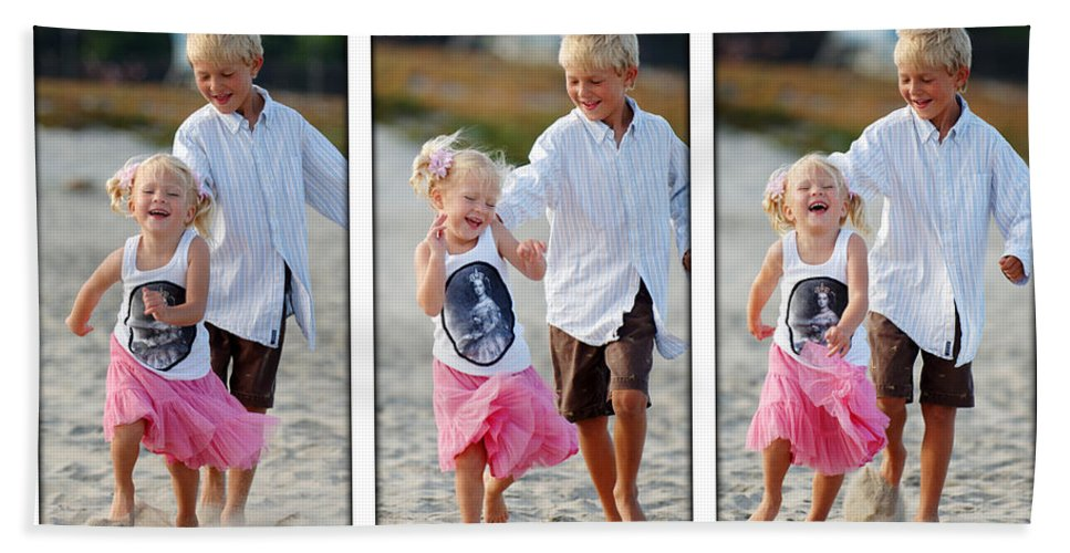 Happy Contest Beach Towel featuring the photograph Happy Contest 15 by Jill Reger