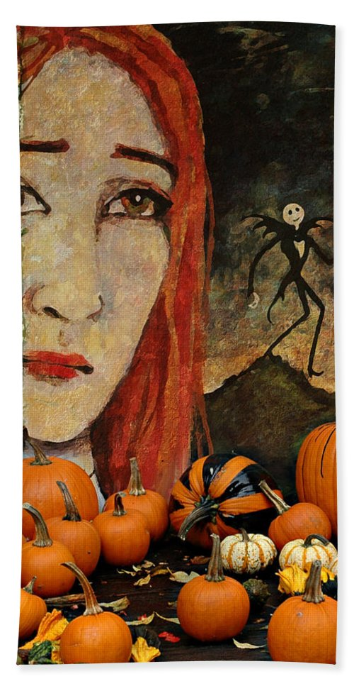 Halloween Beach Towel featuring the photograph Happy Halloween by Jeff Burgess