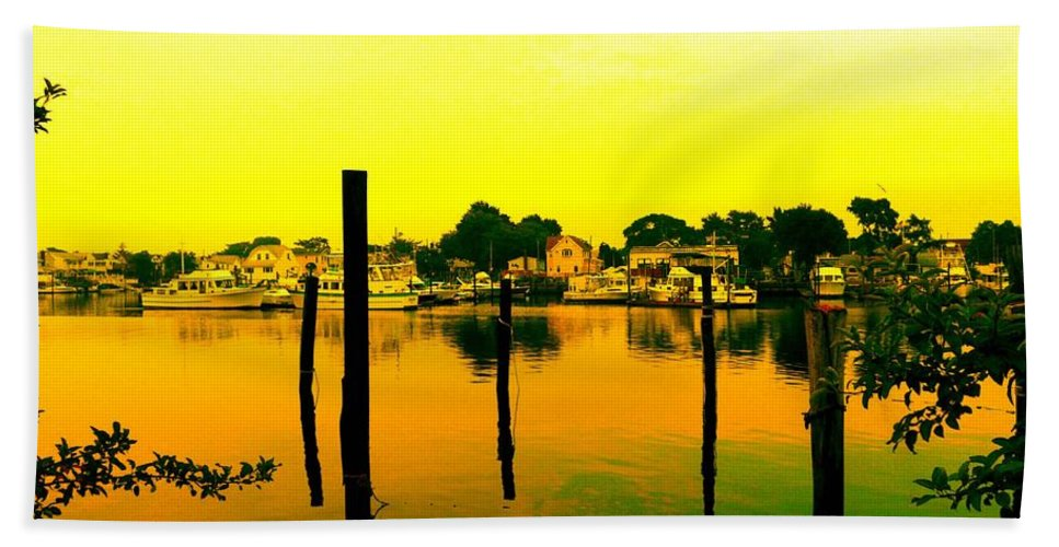 Waterscape Beach Towel featuring the photograph Happy Homes by Kendall Eutemey