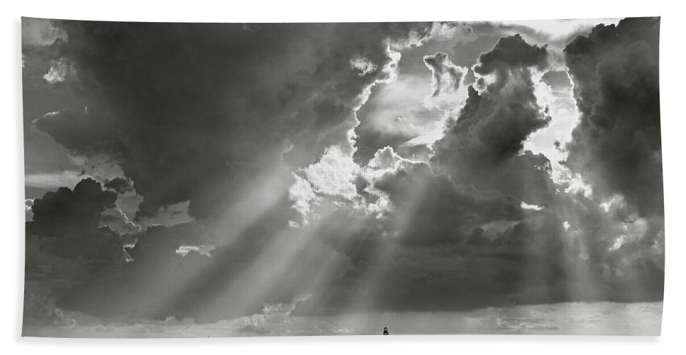 Barnstable Beach Towel featuring the photograph Harbor Sail by Charles Harden