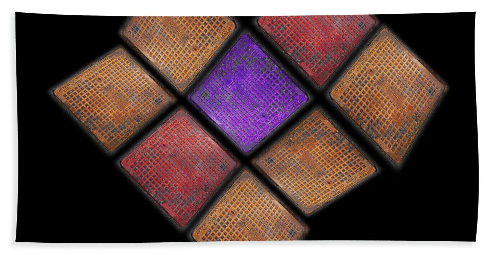 Harlequin Beach Towel featuring the photograph Harlequin by Charles Stuart