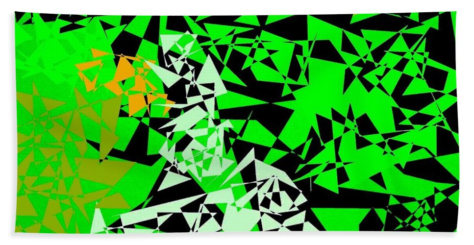 Abstract Beach Towel featuring the digital art Harmony 5 by Will Borden