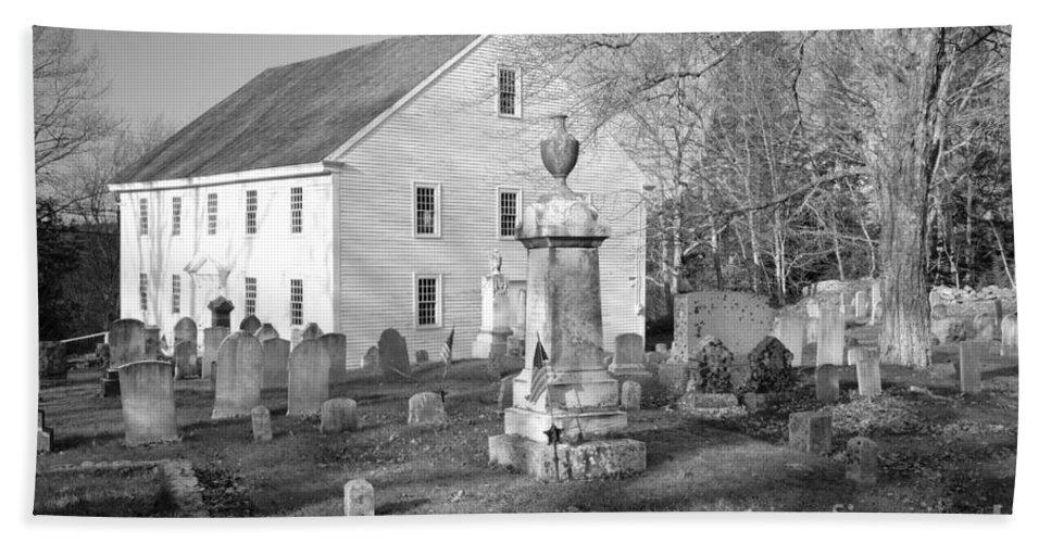 Maine Beach Towel featuring the photograph Harrington Meetinghouse -bristol Me Usa by Erin Paul Donovan