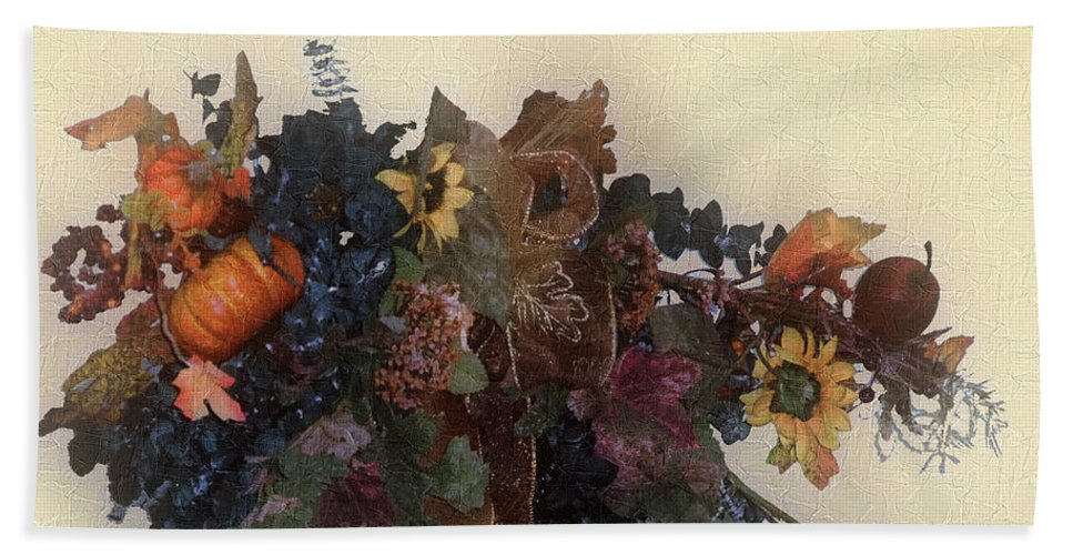 Autumn Beach Towel featuring the painting Harvest Home by RC DeWinter