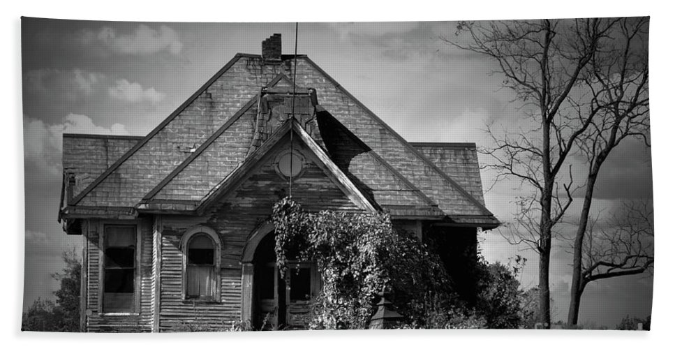 School Beach Towel featuring the photograph Haunted School House by David Arment
