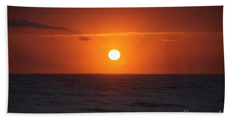 Sunrise Beach Sheet featuring the photograph Hawaiian Sunrise by Nadine Rippelmeyer