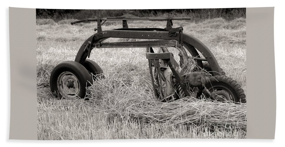Hay Beach Towel featuring the photograph Hay Rake by Kathleen Struckle