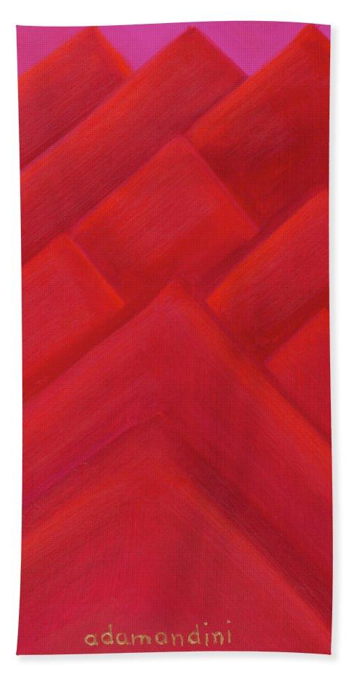 He Tu Beach Towel featuring the painting He Tu Fire by Adamantini Feng shui