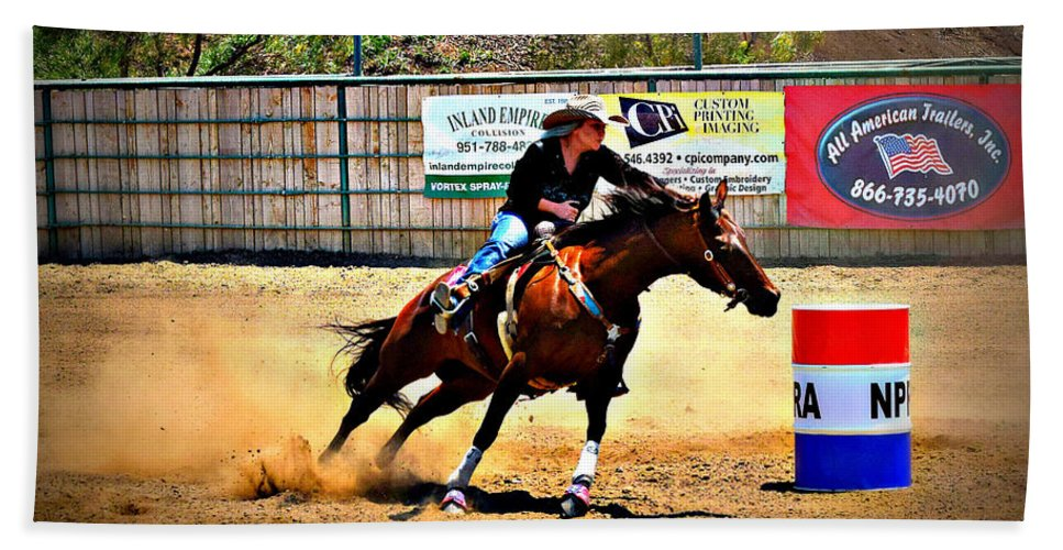 Race Beach Towel featuring the photograph Heading For Home by Sandra Watkins