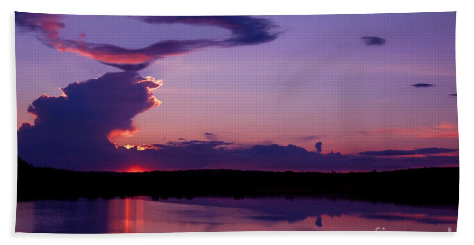 Heart Beach Towel featuring the photograph Heart In The Sky by Alana Ranney