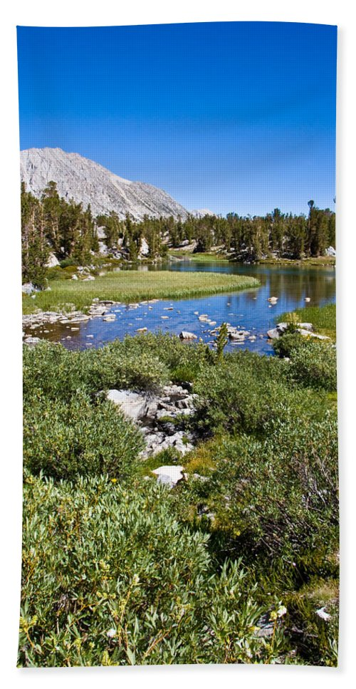 Heart Lake Foliage Beach Towel featuring the photograph Heart Lake Folaige by Chris Brannen