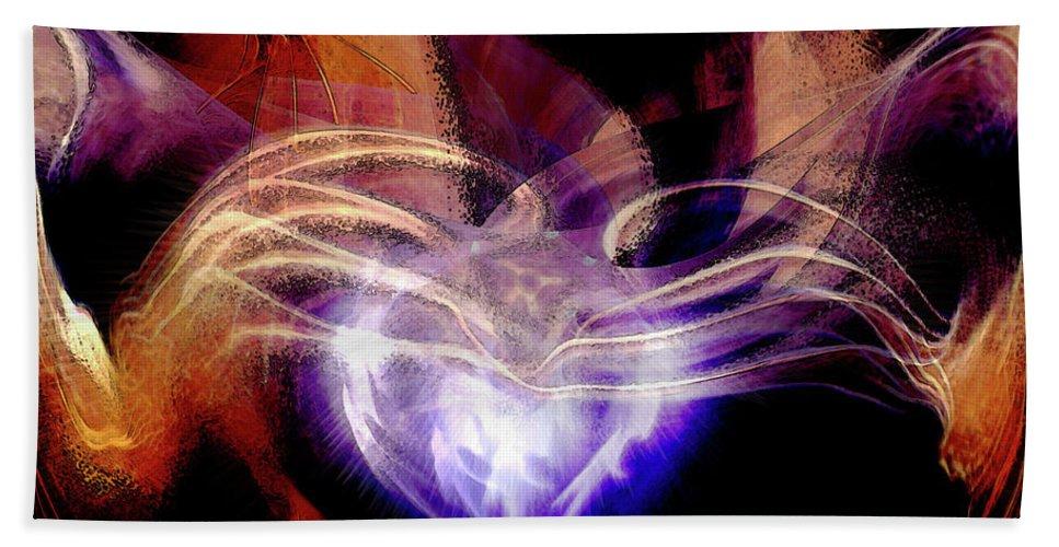 Heart Wings Beach Towel featuring the digital art Heart Wings by Linda Sannuti