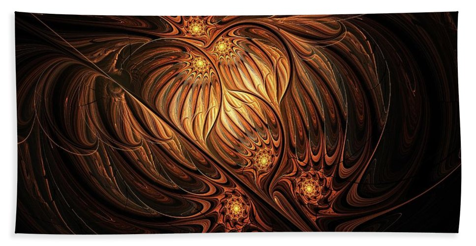 Digital Art Beach Towel featuring the digital art Heavenly Onion by Amanda Moore