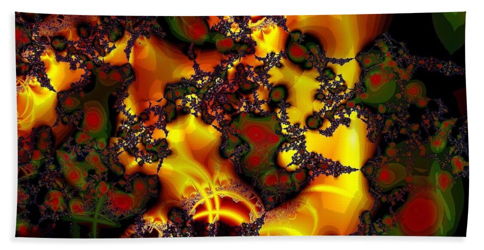 Lace Beach Towel featuring the digital art Held Together With Lace by Ron Bissett