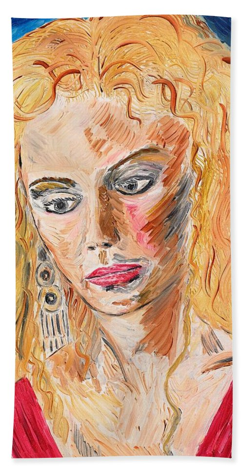 Helen Beach Towel featuring the painting Helen Of Troy by Valerie Ornstein