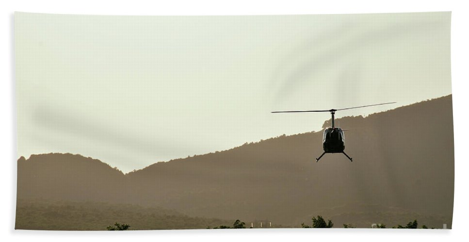 Helicopter Beach Towel featuring the photograph Helicopter by Ilaria Andreucci