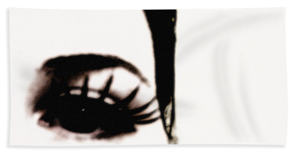 Eye Beach Towel featuring the photograph Hello by Amanda Barcon