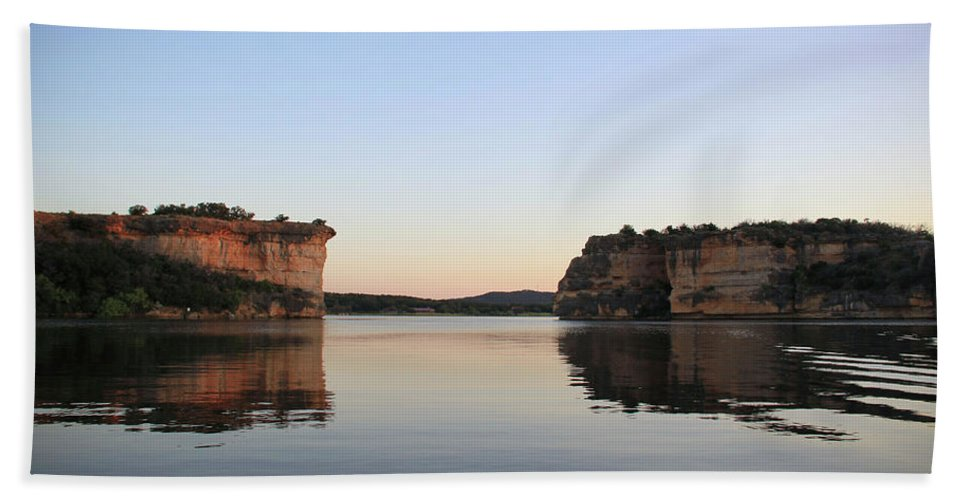 Possum Kingdom Lake Beach Towel featuring the photograph Hell's Gate 3 by Emily Olson