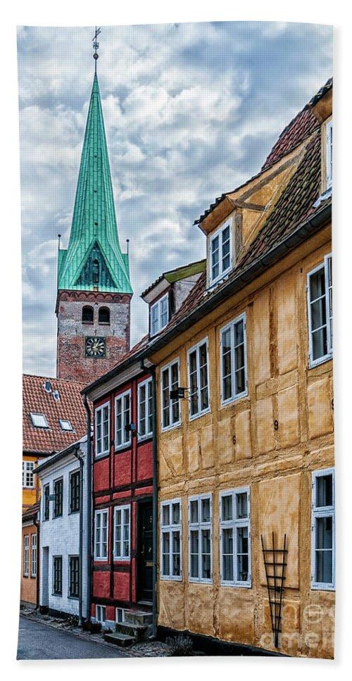 Denmark Beach Towel featuring the photograph Helsingor Old Street by Antony McAulay
