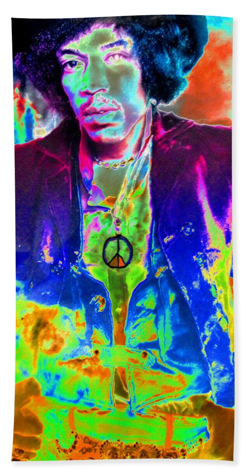 Art Beach Towel featuring the painting Hendrix by David Lee Thompson