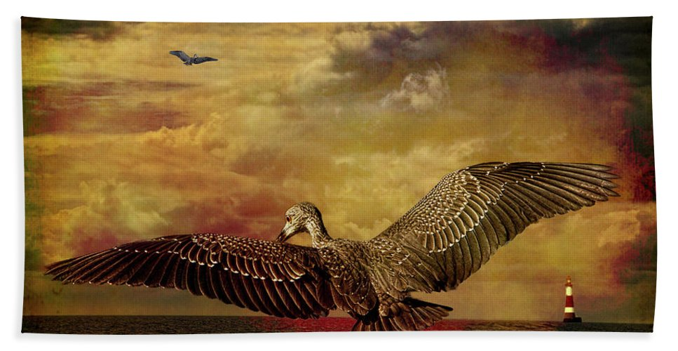 Heron Beach Towel featuring the photograph Herons by Chris Lord