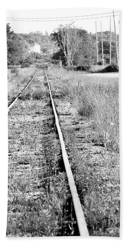Tracks Beach Towel featuring the photograph Hespeler Tracks by Traci Cottingham