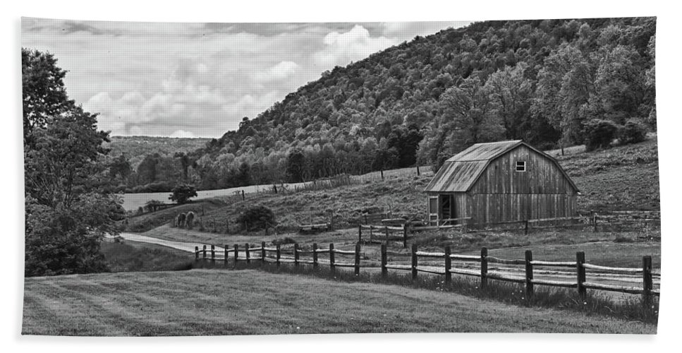 Barn Beach Towel featuring the photograph Hickory Hills 0425 by Guy Whiteley