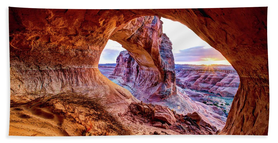 Hidden Beach Towel featuring the photograph Hidden Alcove by Chad Dutson