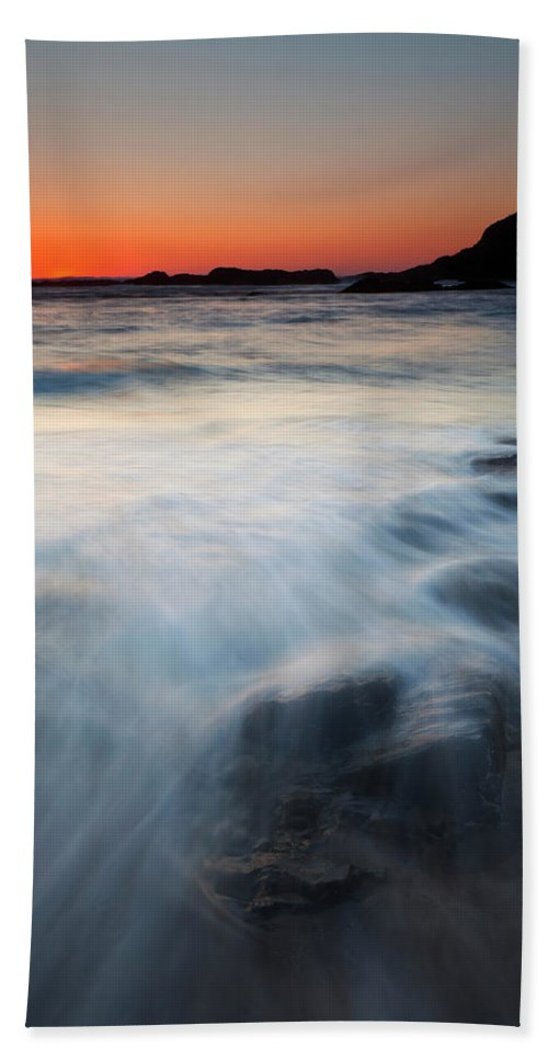 Seal Rock Beach Towel featuring the photograph Hidden Beneath The Tides by Mike Dawson