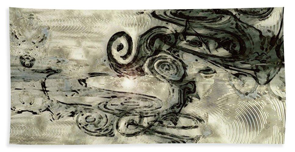 Hidden Dreams Art Beach Towel featuring the digital art Hidden Dreams by Linda Sannuti