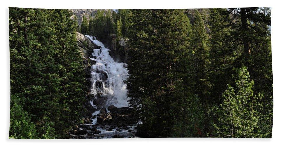 Landscape Beach Towel featuring the photograph Hidden Falls - Grand Tetons Np by Rob Lantz