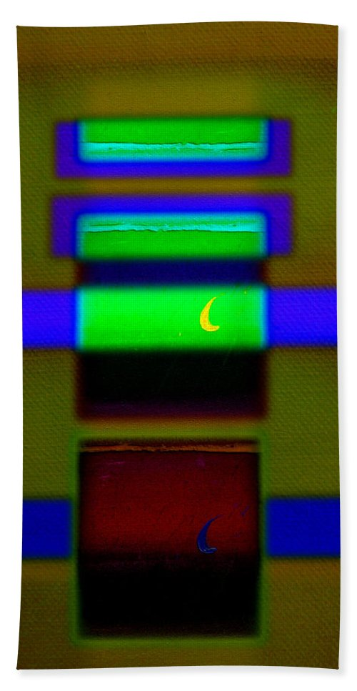 Rothko Beach Towel featuring the painting Hieroglyphic by Charles Stuart