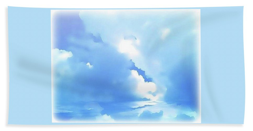 Clouds Beach Towel featuring the digital art High Life by Amber Stubbs