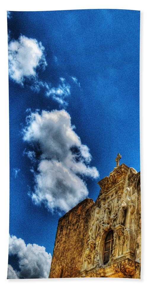 Age Beach Towel featuring the photograph High Noon At The Bell Tower by Chas Sinklier