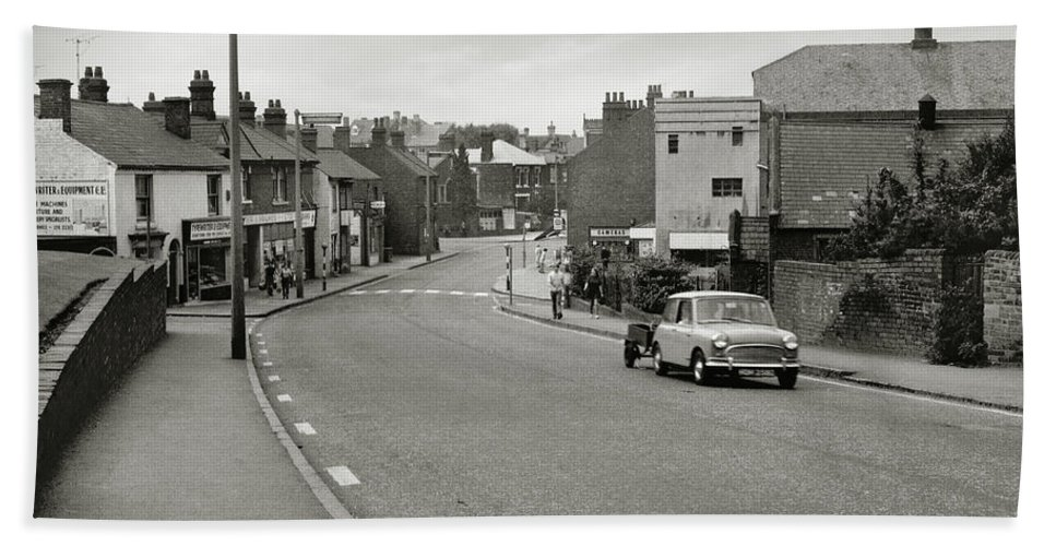 Hart Photography Beach Towel featuring the photograph High Street, Lye - 1960's  Ref-61 by William Hart